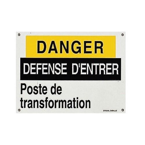 Affiche Danger Défense d'Entrer S750AL 185mm x 135mm