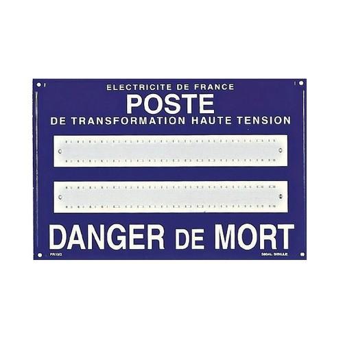 Affiche Poste Haute Tension 2 x Lignes S80ALPR10/2
