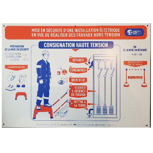 Affiche Travaux Electrique Consignation S754ALNM