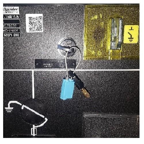 Anneau indémontable pour clé d'inter-verrouillage (couleur bleu - ex-anneau soudé)