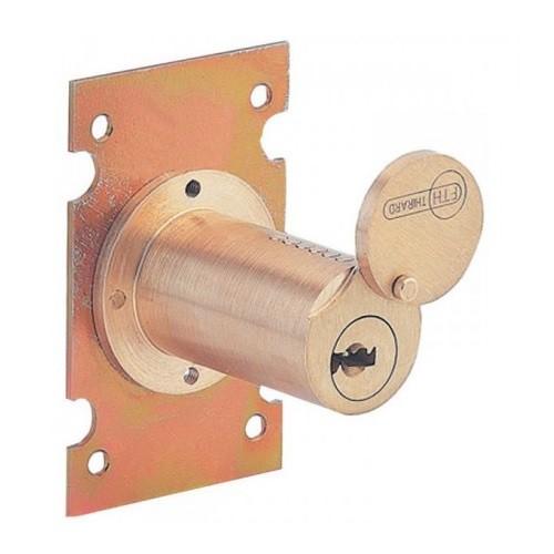 Cylindre ROND plastron Enédis + 2 clés Secteur SE Anti Panique