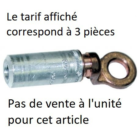 Cosse C0AU 16²  Plage 1 trou diamètre 10,5 mm prix par 3 unités