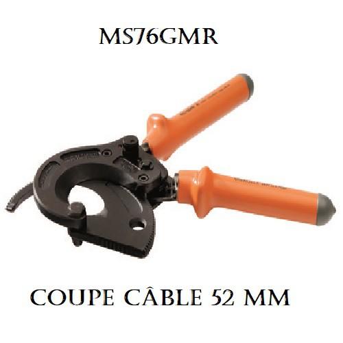 MS76GMR Coupe câble ALU/CU