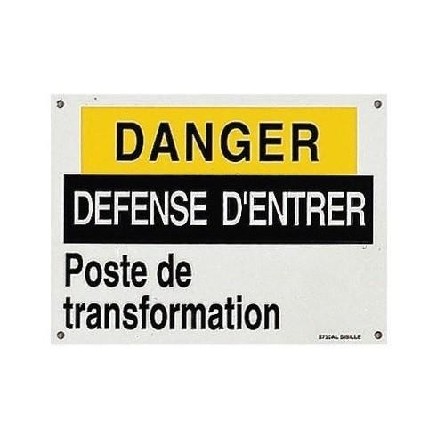 S750AL Pancarte Danger Défense d'Entrer