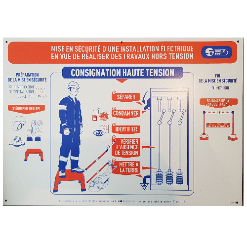 S754ALNM Pancarte Travaux Electrique Consignation
