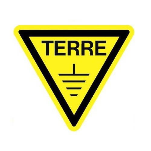 S81ALT-100 Pancarte Triangle de Terre