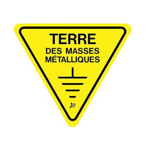 S81ALTM-100 Pancarte Triangle Terre des Masses