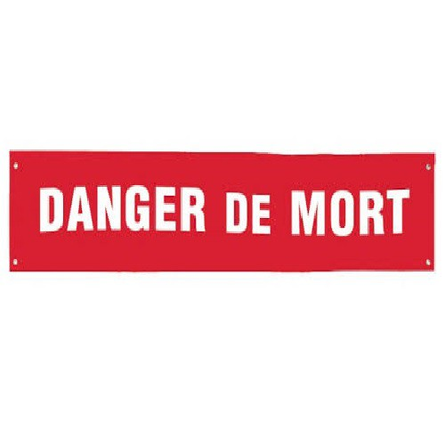 S85A Banderole DANGER DE MORT