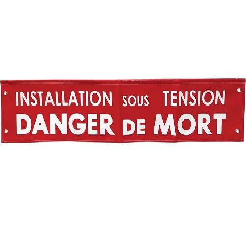 S85B Banderole Installation Sous tension Danger de Mort