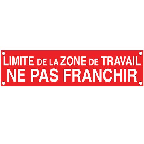 S85C1 Banderole Limite Zone de Travail Ne Pas Franchir