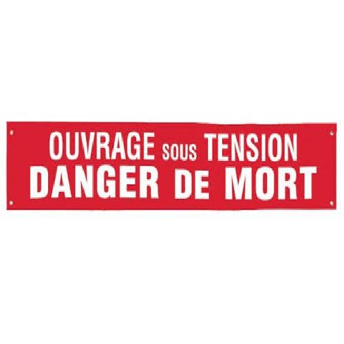 S85K Banderole Ouvrage sous Tension Danger de Mort